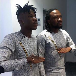 Stonebwoy and his producer Beats DaKay