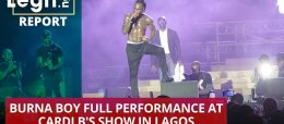 Burna Boy full performance at Cardi B's show in Lagos | Legit TV