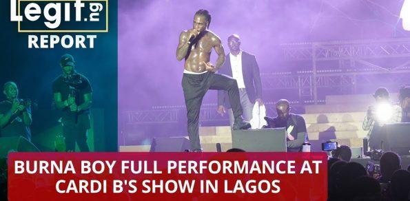 Burna Boy full performance at Cardi B's show in Lagos | Legit TV
